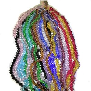 1,000 Glass Crystal Bicone Beads Wholesale Huge Lot 4mm 12 Strands 12 Colors