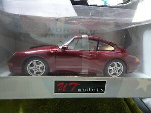 1:18 AUTOart/Ut Models #27827 Porsche 911 CARRERA S Wine Red Metallic Rarity