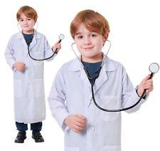 Childrens Doctors Lab Coat Fancy Dress Costume Outfit Boys Girls Kids Childs M