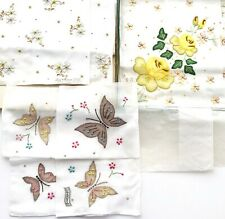 Vtg Lot 3 Embroidered Hankies Madeira Cotton Franshaw Lady Heritage Bullocks Box