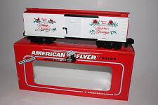 LIONEL AMERICAN FLYER #6-48314 1992 CHRISTMAS BOXCAR, S GAUGE, NIB, LOT B