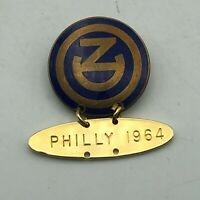 Unknown Vtg ND Lapel Pin With Philly 1964 Dangle Charm Not Sure Help   Q3