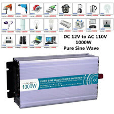 Pure Sine Wave Power Inverter 2000W Dc12V to Ac 110V Usb Charger Adapter Led