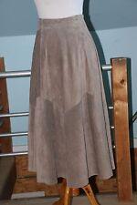 Vintage Talbots Taupe Suede Skirt High Waist, Full skirt, Midi length, Size 2-4