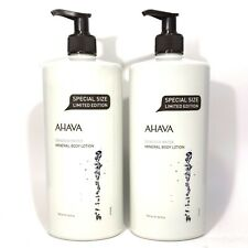 AHAVA Deadsea Water Mineral Body Lotion Limited Edition 24 oz 750 ml (2 Pack)