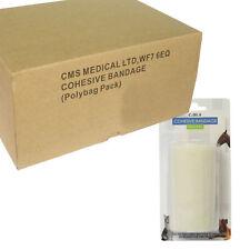 BOX COMPLETO DI 10cm Autoadesivo BENDA COESIVA ELASTICA SUPPORTO ROLL Wrap bianco