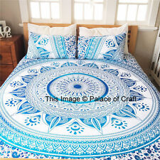 Indian Ombre Mandala Printed Cotton Sham Pillow Cushion Cover Stylish Decor Art