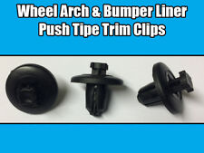 10x CLIPS FOR PEUGEOT CITROEN WHEEL ARCH & BUMPER LINER PUSH TYPE BLACK PLASTIC