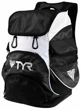 TYR Alliance Team Backpack II Swimming Bag - Black / White