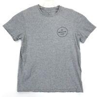 Quicksilver Boarding Company Crew Neck Tee T-Shirt Mens Medium Gray Short Sleeve