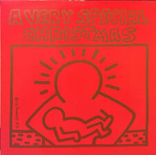 Keith Haring Artwork Album Innersleeve And Label Art LP A Very Special Christmas