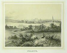 Tonlithografie 1854 - BOCKELWITZ Rittergut Polditz - Poenicke