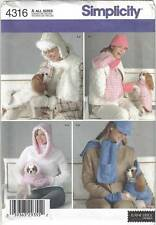 Simplicity Pattern 4316 Dog Coats and Misses' & Dog Accessories in 3 Sizes