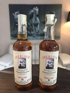 2x Flaschen Aberlour Glenlivet 10 years, L0125, Single Malt, 40% 0,75 Lt. - RAR!