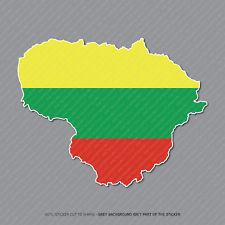 Etiqueta engomada de la bandera de Lituania Lituania Mapa-Coche-Laptop-Macbook Notebook - 2936