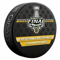 BOSTON BRUINS 2019 Eastern Conference Champions NHL SOUVENIR LOGO PUCK