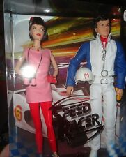 SPEED RACER DOLL SET, BARBIE AND KEN AS SPEED RACER & TRIXIE, UNOPENED