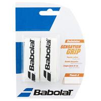 BABOLAT Badminton Hi-Soft Basis Griffband Sensation Grip weiß 2er Pack  -NEU-