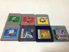 GB Pokemon 7 Lot Green Red Yellow Blue Gold Silver Crystal Game Boy Japan