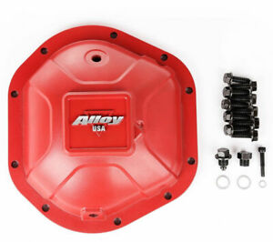 Alloy USA Differential Cover Aluminum Red FOR Jeep Yj Tj Jk Wrangler Dana 44