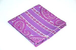 Lord R Colton Masterworks Pocket Square - Sannibel Amethyst Stripe Silk - New