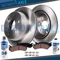 Front Disc Rotors + 5.3'' Ceramic Brake Pads for Tundra Sequoia Brake Rotors Kit