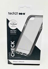 NEW Authentic Tech21 Evo Check Case for iPhone 7 & iPhone 8 - SMOKEY BLACK CLEAR