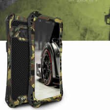 For Samsung Galaxy S8 S9 Plus Note 8 9 Aluminum Metal Heavy Armor Hybrid Case