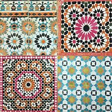Moroccan Mosaic Tile Wallpaper - Multi BA2504