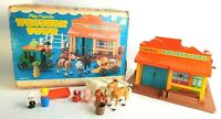 Vintage Fisher-Price Little People Play Family Western Town 934 Original Box