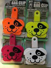 KOLLER CRAFT PET DOG FOOD BAG CLIP CAP LOT OF FOUR. FREE SHIP TO THE  USA