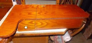 Pine Wall Desk with Mirrror / Hanging Desk / Wall Vanity