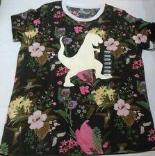 NWT Brooklyn Standard Floral T Rex Dinosaur Short Sleeve T Shirt Size M