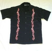 Dragonfly Clothing Company Men's Embroidered Button Down S/S Shirt Size L