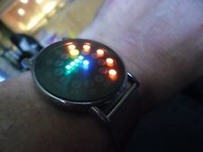 nice   gents futuristic binary LED  quartz  watch retro space age style