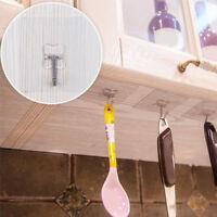 Clear Bathroom Kitchen Organizer Hanger Hook Wall Hanging Door Towel Holder Rack