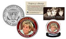 PRINCESS DIANA 1997-2017 Official 20th ANNIVERSARY JFK Half Dollar Coin - Redrim