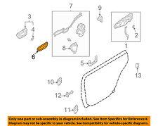 SUBARU OEM 02-04 Impreza Front Door-Handle Bezel Left 61052FE010ML