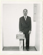 Photo Vintage Bertillon identification Policière Police Mug Shot Usa 1957