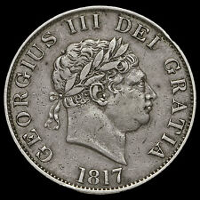 1817 George III Milled Silver Half Crown, Small Head, VF