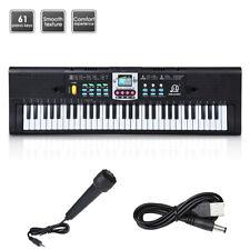 61 Key Music Electronic Keyboard Electric Digital Piano Organ W/ Microphone Kit