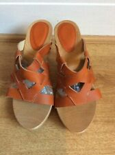 Ladies Wooden Shoes Size 5 Terracotta by Scholl