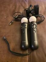 PS4 Move Motion Controllers With Camera - Black CECH-ZCM1U Sony PlayStation  ps3