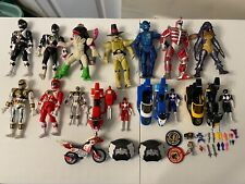 Vintage 1994 Bandai Power Rangers Action Figure and Power Bike Lot