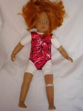 """Leotard/swimsuit  ideal for Our Generation, American Girl  18"""" Handmade"""