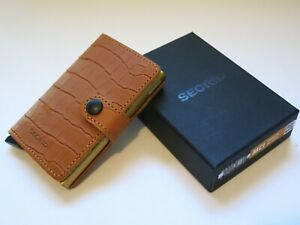SECRID MINIWALLET Cleo Ochre Compact Leather Credit Card Holder Handmade