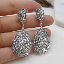 FX- Women's Rhinestone Waterdrop Dangle Stud Earrings Wedding Party Jewelry Util