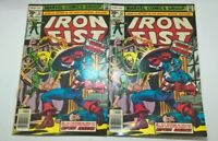 IRON FIST # 12 TWO COPIES   APR 1977 TWO ISSUE LOT