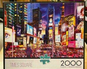 """Buffalo Games """"Times Square"""" 2000 Piece Jigsaw Puzzle Complete"""