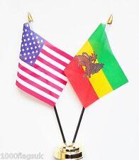 United DICE de América & ETIOPÍA 1941 to 1974 amistad de Mesa Bandera Juego
